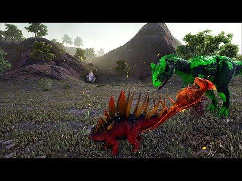 Ark Coop Map Crystal #21: Cưỡi ếch độc đi chinh phục allosaurus và kentrosaurus lửa