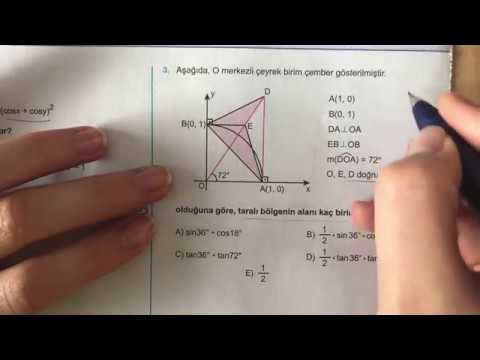 345 AYT Trigonometri-II Ösym Tadında-4 Anlatımlı Çözümleri (2018-2019 basım)