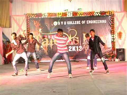 Ultimate dance by Prabhakar and co in Rhapsody 2k13 - svu for