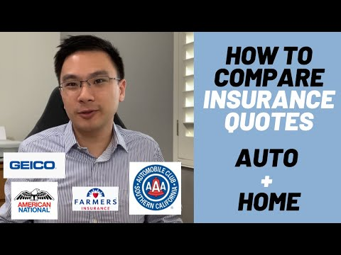 How to Compare Auto and Home Insurance Quotes