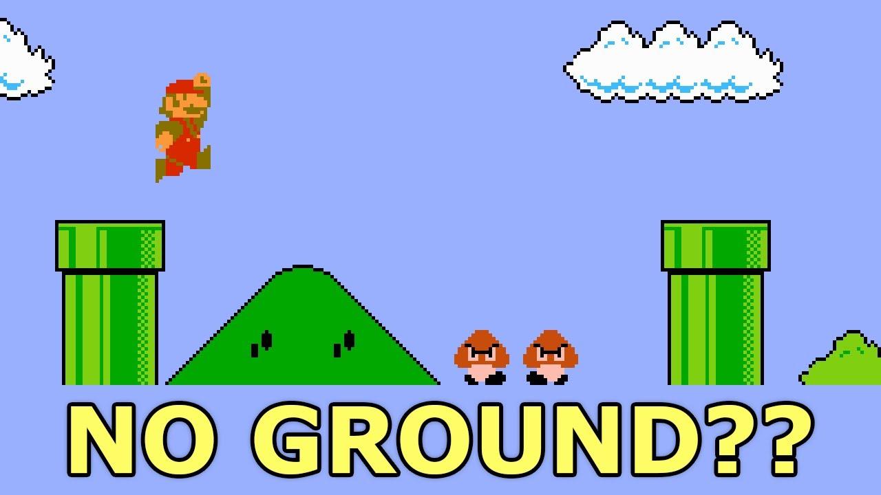 Speedrunning Super Mario Bros. but the floor is INVISIBLE??