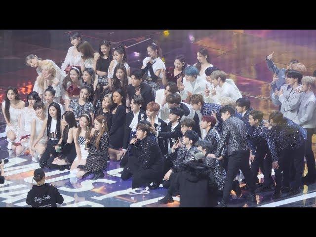 트와이스(TWICE),레드벨벳(Red Velvet),ITZY,TXT,태연,NCT DREAM 엔딩(Ending) 전출연진 기념사진촬영 [4K] 직캠 Fancam by Mera