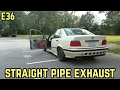20$ STRAIGT PIPE EXHAUST!!! : BMW E36 325i Straight Pipe/Muffler Delete Exhaust Sound