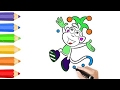 Monkey Coloring Pages & Drawing for children | How to color by COLORING KIDS TV
