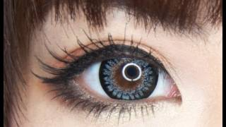 Geo Princess Mimi Bambi in Grey Circle Lens