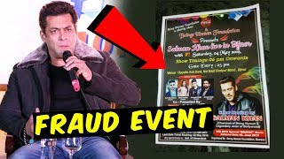 Salman Khan's Name Falsely Used In A CHARITY EVENT In UP