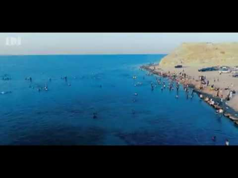 Libya: This is Zlietn city beach 2017 summer / 4K HD phantom 4 pro