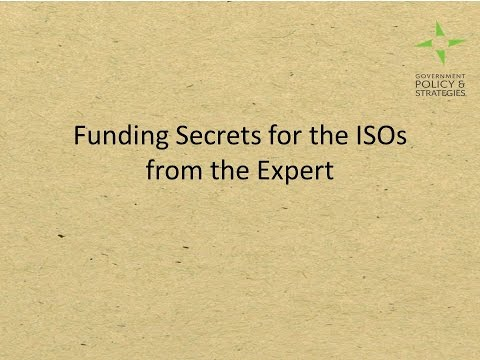 CSS2015: Session 1 CA - Funding Secrets for ISOs from the Experts