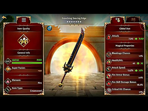 7 STAR EVOLUTION FIRE WEAPON MAXED OUT ! Dungeon Hunter 5