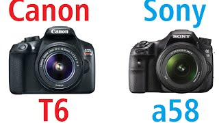 canon eos rebel t6 1300d vs sony α58 slt a58
