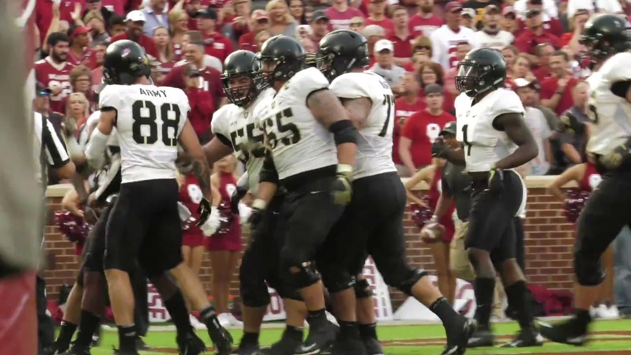 Army Football: Kelvin Hopkins Touchdown Run vs. Oklahoma 9 ...