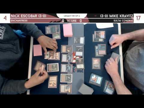 Legacy @ Fire & Dice [3/25/17] - Nick Escobar (Enchantress) v Mike Kravitz (4c Control)