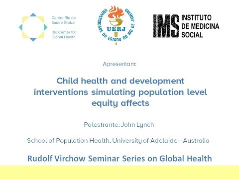 Child health and development interventions simulating population level equity affects