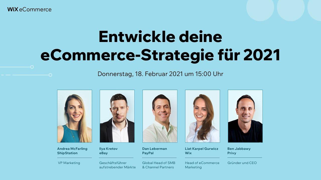 Entwickle deine eCommerce-Strategie für 2021   Wix.com