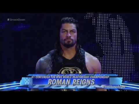 WWE Roman Reigns vs rock 2016   Waptubes Com