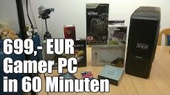Ein 699,- EUR Gamer PC entsteht - Zusammenbau in 60 Minuten