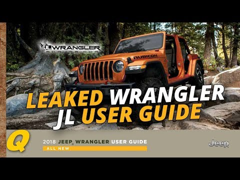 Leaked! 2018 Jeep Wrangler JL User Guide and Owner's Manual