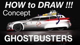 HOW to DRAW and RENDERING - Ghostbusters Ecto concept - Desenho industrial automobilistico