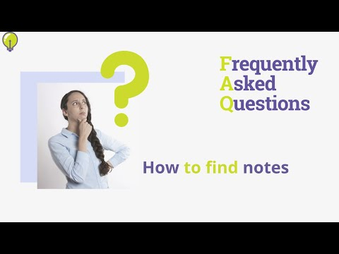 How to find notes - YouTube