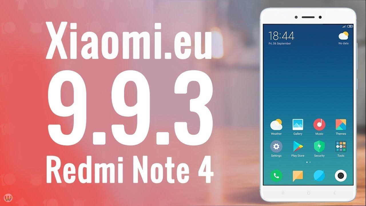 Xiaomi eu 9 9 3 Pie Port For Redmi Note 4/4X