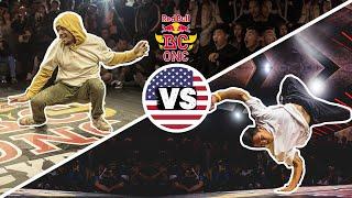 Red Bull BC One Cypher Los Angeles 2019 | Final B-Boys: Yuri vs. Nico Spins