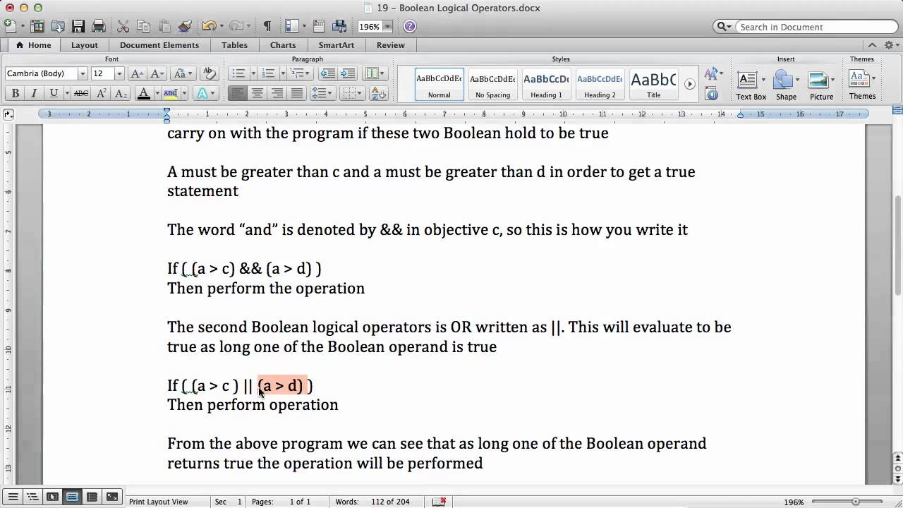 Objective c tutorials 19 boolean logical operators youtube objective c tutorials 19 boolean logical operators baditri Image collections