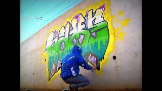GRAFFITI NAME Bajo las vias - OKEY TEAM