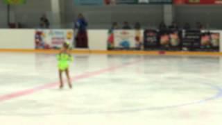 Маша Теремова 4,5 года, выступление Юный фигурист