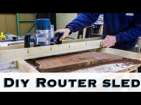 How to make a DIY Router sled / Flattening Jig / Router Jig
