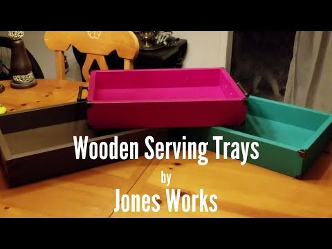 Wooden Serving Trays   Easy Woodworking Gift Idea - 8