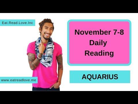 "AQUARIUS SOULMATE ""WHAT NOW?"" NOVEMBER 7-8 DAILY TAROT READING"