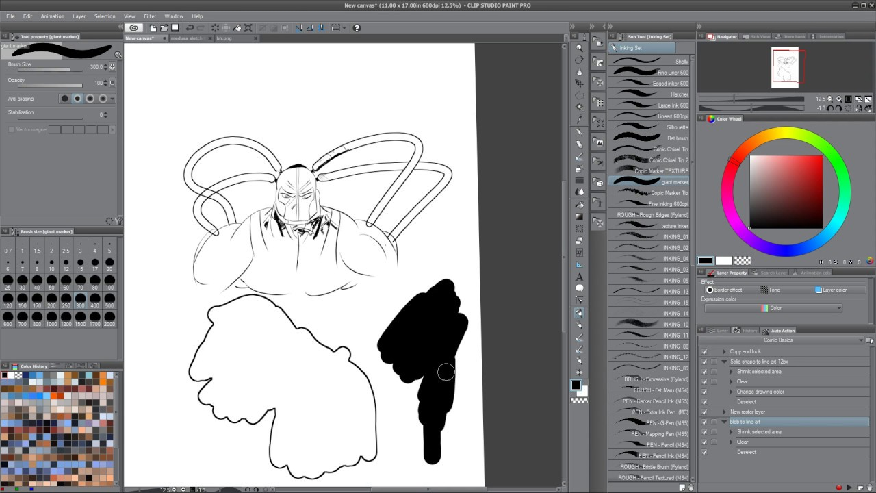 Line Art Converter Software : Converting blobs to line art perfect parallel lines in manga