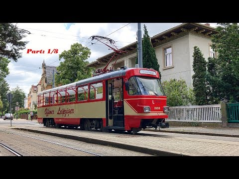 3 Round trips with the Leipzig tram in Dresden / Germany, June 2017 / Part: 1/3