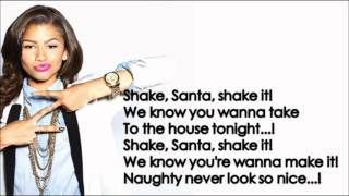 Zendaya - Shake Santa Shake (Lyrics) HD