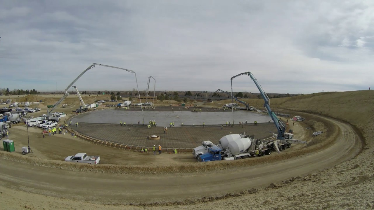 Time lapse Hillcrest water storage tank #2 Feb. 18 2017. Denver Water & Time lapse: Hillcrest water storage tank #2 Feb. 18 2017. - YouTube