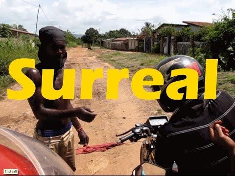 Surrealistic Video Melange of African Motorcycle Trip