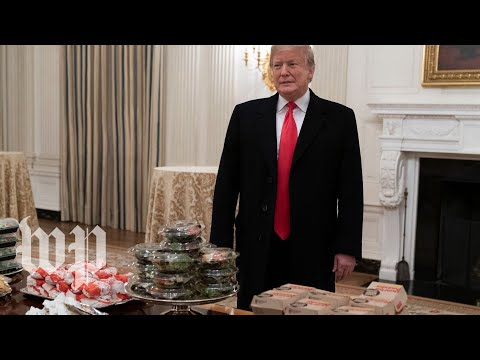 Hooker, Brooke & DB - Trump welcome the Clemson Tigers with a fast-food buffet
