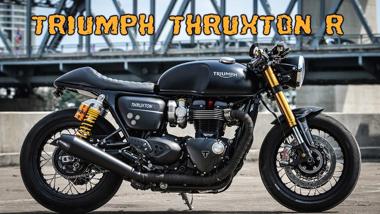 triumph thruxton r cafe racer - youtube