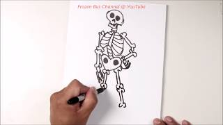 COCO - How To Draw A Skeleton (Blu-ray bonus feature)