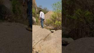 Gabbar's rock from Sholay. Now this rock lies inside Ramadevarabetta vulture sanctuary, Karnataka