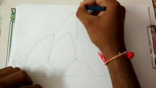 Drawing Lotus Temple  # Part 1