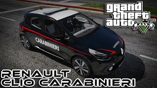 GTA 5 MOD ITA - RENAULT CLIO DEI CARABINIERI + SIRENA ITALIANA - GTA 5 GAMEPLAY ITA