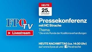 Pressekonferenz mit HC Strache: Die erste Runde der Koalitionsverhandlungen