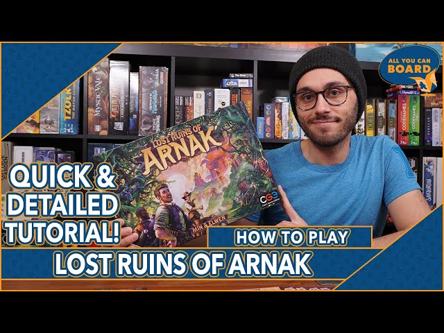 Lost Ruins of Arnak | DETAILED & QUICK TUTORIAL | Learn to Play in 14 MINUTES!