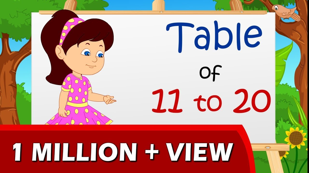 Learn Multiplication Table Of 11 To 20 Youtube