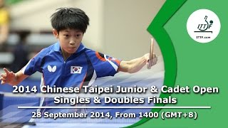 Table Tennis: 2014 Chinese Taipei Junior & Cadet Open (Singles & Doubles Finals)