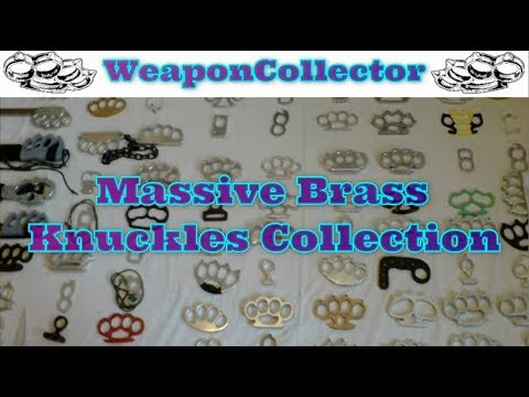 Huge Knuckle Duster / Brass Knuckles Collection  (WeaponCollector blogspot com)