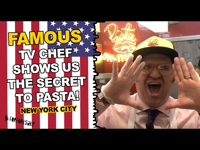 CBS COOKING SHOW HOST BRANDON FAY TALKS US THROUGH PASTA BY HUDSON - NYC BEST FRESH PASTA!