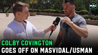 Colby Covington escalates personal feud with Jorge Masvidal; will be in attendance at UFC 261