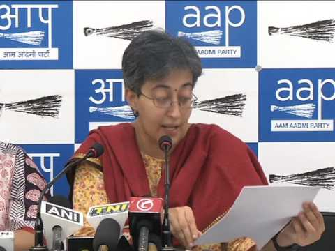 Aap Leaders brief media on Conspiracy to frame its elected Reprentatives in false case
